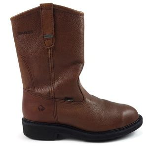 Wolverine Steel Toe Safety Brown Leather Boots